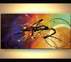 Canvas Art, Modern Wall Art, Stretched, Embellished & Ready-to-Hang Print - Time - Art by Osnat Inspiration Artistique, Contemporary Paintings, Painting Inspiration, Canvas Art Prints, Abstract Art, Abstract Paintings, Modern Art, Cool Art, Original Paintings