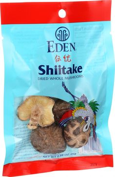 Eden Foods Shiitake Mushrooms - Whole - Dried - .88 oz