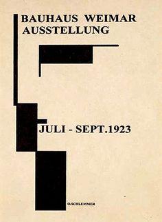 Oskar Schlemmer - Bauhaus Weima Exhibition, 1923