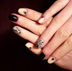 nail idea for fall - made by a friend of mine