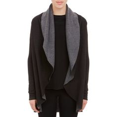 Barneys New York Doubleface Drape-Front Cardigan Sale up to 70% off at Barneyswarehouse.com