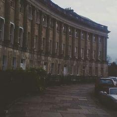Royal crescent. Bath. Winter