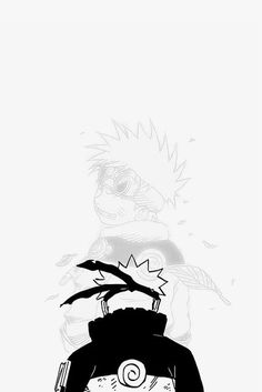 Naruto Uzumaki White and Black Naruto Shippuden Sasuke, Naruto Kakashi, Anime Naruto, Naruto Uzumaki Art, Wallpaper Naruto Shippuden, Otaku Anime, Manga Anime, Boruto, Narusaku