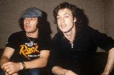 Brian and Angus - AC/DC - in 1982
