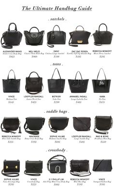THE VAULT FILES: Shopping File: 4 Must-Have Handbags See related items on Fanatic Leather Store.