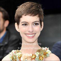 Anne Hathaway short hair at 'The Dark Knight Rises' London Premiere