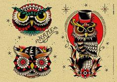 Afbeelding van http://www.ideatattoo.com/media/catalog/product/cache/2/image/9df78eab33525d08d6e5fb8d27136e95/g/u/gufi_old_school_tattoo_owl.jpg.
