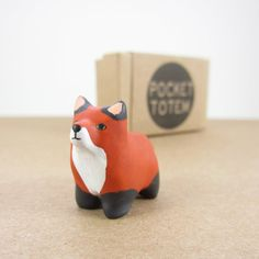 I so need this gorgeous Fox totem animal from HandyMaiden on Etsy. Her store is AMAZING!!!