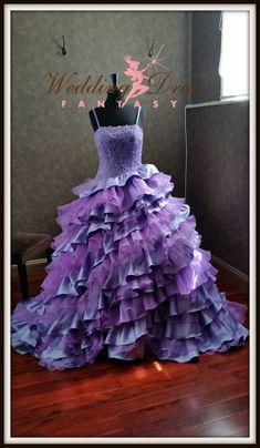 Orchid and Lilac Purple Wedding Dress with by WeddingDressFantasy