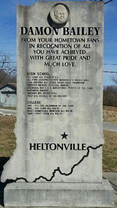 Damon Bailey Monument - Heltonville Indiana Basketball, I Love Basketball, College Basketball, Bobby Knight, Iu Hoosiers, Football Memes, Indiana University, Damon, High School
