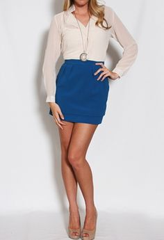 LOVE! Broadcloth Double Layer Skirt