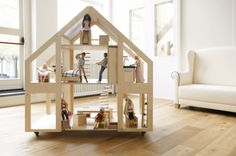Dolls Villa by Liliane – tall, stylish and useful in more ways than you'd think #Barbie, #Doll, #DollHouses, #ImaginativePlay, #Liliane, #WoodenToys