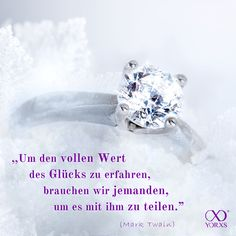 """""""To get the full value of joy ypu must have someone to divide it with."""" Quote Mark Twain #Zitat #Glück"""