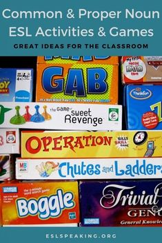 Find out the top picks for common and proper noun games and activities for ESL, along with worksheets, lesson plans, online practice recommendations and more. Teaching common and proper nouns has never been easier with these interactive, engaging, and student-centred ESL games and activities.  #common #commonnoun #commonnouns #noun #nouns #proper #propernouns #propernoun #eslgrammar #grammar #englishgrammar #teachinggrammar #esl #efl #tefl #elt #tesol #esol #tesl #teaching #teachingenglish Efl Teaching, Teaching Grammar, Free Teaching Resources, Teaching English, Nouns Worksheet, Worksheets, Noun Games, Speaking Games, Common And Proper Nouns