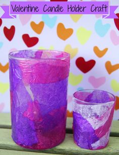 Gummy Lump Toys Blog: Valentine Candle Holder #Kids #Craft