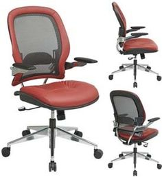 Heavy duty office chair - Pin it :-) Follow us   :-)) AzOfficechairs.com is your Office chair Gallery ;) CLICK IMAGE TWICE for Pricing and Info :) SEE A LARGER SELECTION of  heavy duty  office chair at http://azofficechairs.com/?s=heavy+duty+office+chair -  office, office chair, home office chair - Professional Charcoal Breathable Mesh Back Chair with Crimson Leather Seat and Trim, Cantilever Arm « AZofficechairs.com