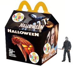Horror happy meal boxes adult toys | Uploaded to Pinterest