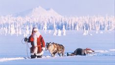 Scandinavian Christmas ! Joulupukki comes from Lapland, visits after dinner, on Christmas Eve, in person ...