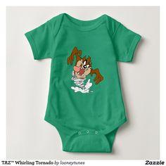 Looney Tunes - TAZ™ Whirling Tornado Infant Creeper. Baby, bebé. Producto disponible en tienda Zazzle. Vestuario, moda. Product available in Zazzle store. Fashion wardrobe. Regalos, Gifts. Link to product: http://www.zazzle.com/taz_whirling_tornado_infant_creeper-235186660769996644?color=kellygreen&CMPN=shareicon&lang=en&social=true&rf=238167879144476949 #camiseta #tshirt #LooneyTunes