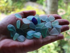 Sea Glass Bulk Pieces - Sea Glass Mix, Japanese SeaGlass,  Bulk Beach Glass, Aqua Blue Sea Glass Beads, Mixed Color Beach Glass, XS Seaglass by KominkaStudio on Etsy