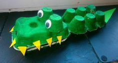 bricolage-boite-a-oeuf-crocodile-en-trois-boîtes-d'oeufs