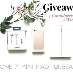 """🌎📱INTERNATIONAL GIVEAWAY📱🌎 I've teamed up with a group of bloggers/influencers to give you this super gift of an IPHONE  7 GOLD, AN IPAD GOLD AND AN EARPHONES URBEATS GOLD!! 🎉🎉 ⭕ THIS GIVEAWAY IS FOR THREE WINNERS. 1st PLACE AN IPHONE, 2nd AN IPAD AND 3rd HEADPHONES URBEATS.  To participate:  1: FOLLOW ME.  2: """"LIKE"""" this photo.  3: GO TO @anatorresmodel and follow.  4: Look at the instructions and repeat steps 1,2,3 until you have arrived back here. When you finish the loop, leave a…"""