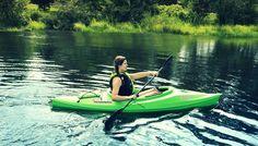 Green Long Sit In Kayak Lake Water Sports River Rafting Sport Fishing Boat Sit In Fishing Kayak, Fishing Kayak Reviews, Sport Fishing Boats, Fishing Guide, Fishing Rod, Kayak Brands, Kayak For Beginners, Kayak Seats, Kayak Trailer