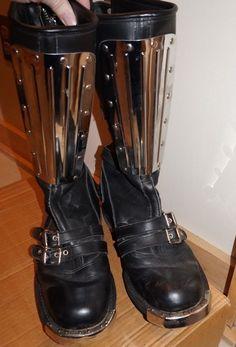 Commando Fifty Five VTGE 80's Steel Black England Warrior Boots RARE Men SZ 9  #CommandoFiftyFive #Boots