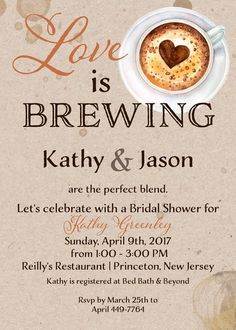 Perfect Blend Coffee Bridal Shower Invitation