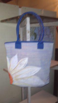 bolso de tela pintado