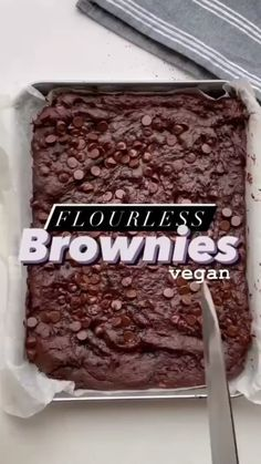 Vegan Brownie, Brownies, Baking, Healthy, Desserts, How To Make, Vegan Recipes, Audio, Food