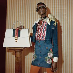Gucci's pre-fall 2017 campaign spotlights a cast of all-black models. Called 'Soul Scene', Glen Luchford captures a party of young people at London's Mildmay… Fast Fashion, Fashion 2017, High Fashion, Luxury Fashion, Womens Fashion, Fashion Tape, Dope Fashion, Fashion News, Gucci Pre Fall 2017