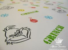 nice people STAMP!: Stamped Wrapping Paper w/ Hand Carved Stamps from Stampin' Up!'s Undefined Kit.  by Allison Okamitsu