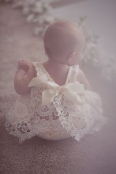 Ivory Lace Baby Outfit