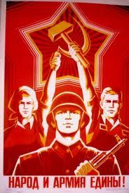 This is a reproduction of a Russian propaganda poster I found online. I wanted to clean up another random propaganda poster, but this one was a lot less. Cold War Propaganda, Communist Propaganda, Ww2 Posters, Political Posters, Political Art, Retro Poster, A4 Poster, Russian Constructivism, Pub Vintage