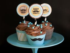 Mustache Bash Baby Shower, i think i want a mustache theme! Mustache Cupcakes, Mustache Theme, Cute Cupcakes, Shower Party, Baby Shower Parties, Baby Shower Themes, Baby Shower Decorations, Shower Ideas, Little Man Shower
