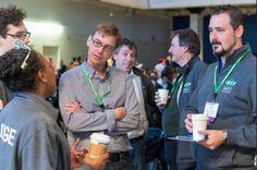 Karmella Haynes, Sam Evans, Kevin Costa, and Piers Millet at the 2014 iGEM Jamboree