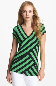 Vince Camuto Tiered Stripe Top available at #Nordstrom