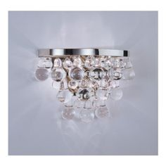 Bling Crystal Sconce Pol Nickel by Robert Abbey S1001