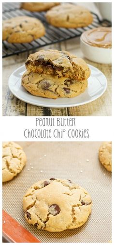 Peanut Butter Chocolate Chip Cookies | From: sweetpeaskitchen.com