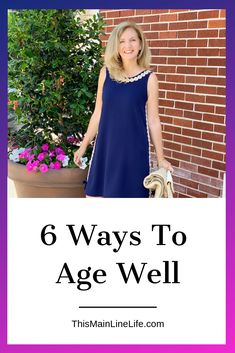 Healthy aging is something we need to think about long before we grow old. Our lifestyle choices now will effect our beauty, health and happiness as we get older. Here are 6 easy ways to age well and feel great. Middle Aged Women, Healthy Aging, Stay Young, Look Younger, Aging Gracefully, Fashion Over 50, Simple Outfits, Natural Skin Care, Beauty Hacks