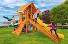 Outdoor Wooden Play Set for Kids