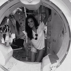 sophiasmithaf:  Sophia at NASA during the Drag Me Down music video shoot.