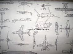 vintage airplane fabric - Google Search