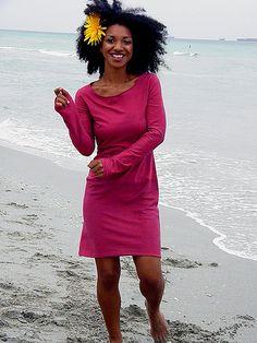 The Simple Mini Dress in organic cotton and organic hemp jersey.