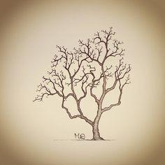 """#inspiration #winter #drawing #나무 #tree #일러스트 #그림 #손그림 #illustration #daily #doodle #낙서 #스케치 #sketch #artwork #artist #garden #nature #풍경 #눈 #snow #겨울…"""