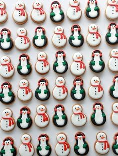 Video Tutorial ~ Snowmen and Penguin Decorated Cookies