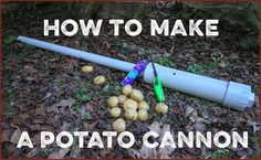 How to Make a Potato Cannon Science Projects, Outdoor Projects, Diy Craft Projects, Projects For Kids, Diy And Crafts, Backyard Projects, Air Cannon, Homemade Weapons, Homemade Tools