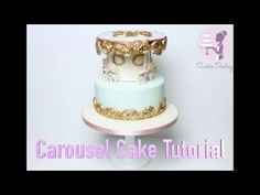 If you want to research any of these tools or materials more, here are my UK affiliate links for some of the extra special bits I used. I am working on findi. Carnival Birthday Cakes, 3rd Birthday Cakes, Circus Cakes, Carousel Cake, Horse Cake, Cake Youtube, Fondant Tutorial, Cake Decorating Tutorials, Fondant Cakes