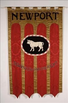 Newport St. Gwynlliw and the Right Banner, 1912. Suffrage.